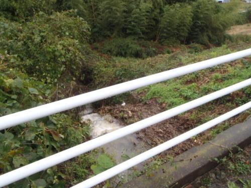 上田市土木課(六句沢(小牧841-5)河川氾濫)