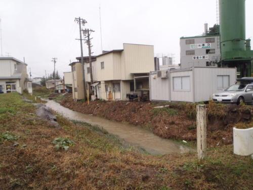 上田市土木課(鯉座川(下之条1740)護岸浸食【R01.10.22】)