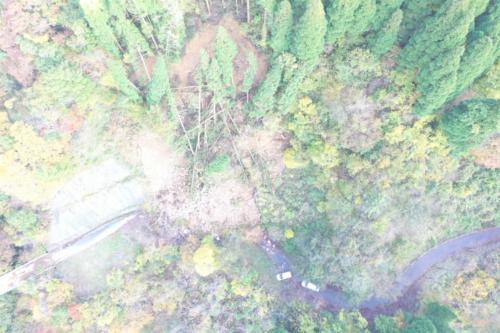 被災状況(長野県林務部信州の木活用課提供:二次利用不可)
